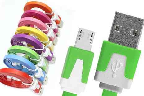 Digital Save - Flat Noodle Micro USB Charger Cable - Save 0%