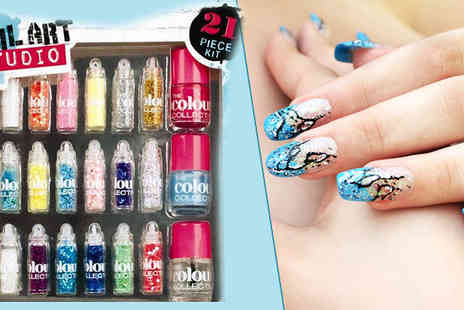 Fashion Sparkles 4 U - Glitter Nail Art Kit - Save 70%