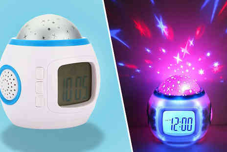CheekyBox - LED Star Projector Clock - Save 58%