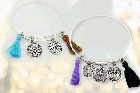 London Gem - Bohemian Missy B charm bangle - - Save 67%