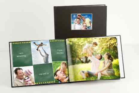 Photobook - Personalised 40 Page Faux Leather Hardcover Photobook - Save 73%