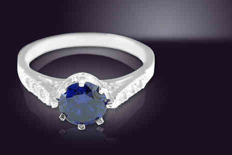 British Gem - Diamond and 1ct tanzanite ring - Save 77%