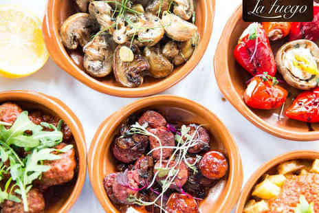 La Fuego - Six Tapas Dishes for Two, with a Glass of Wine Each - Save 52%