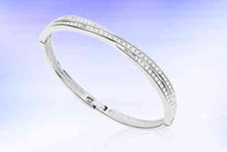 Hulbury - White gold plated Sara bracelet  plus delivery - Save 0%