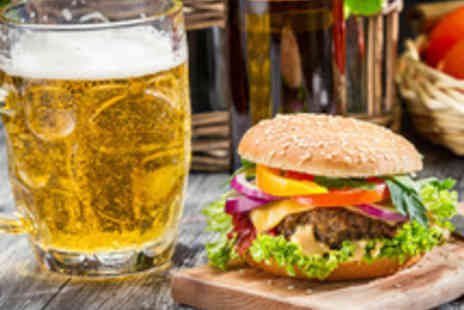 Steak and Cherry - Burger or Hot Dog with a Cocktail or Beer for Two  - Save 43%