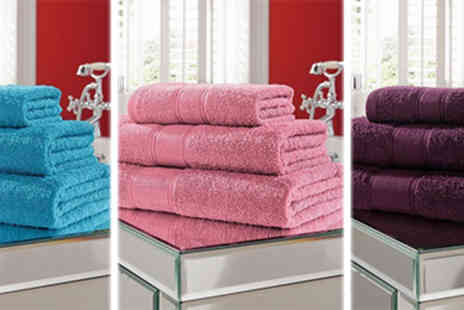 Smart Living - Five Piece Luxury Egyptian Cotton Towel Set - Save 79%