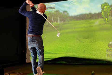 Surbiton Golf Studio - Golf Simulator Hire & a Drink for Four - Save 50%