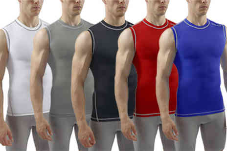Sub Sports - Mens All season Compression Sleeveless Top - Save 45%
