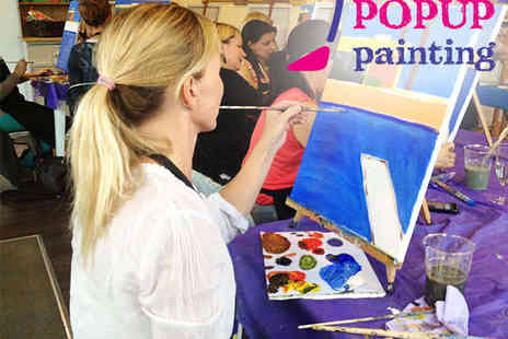 PopUp Painting - PopUp Painting Event in Choice of 16 Locations - Save 24%