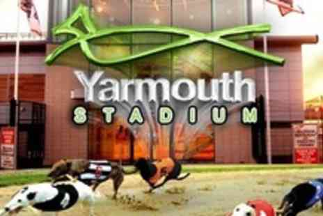 Yarmouth Stadium - Greyhound Racing For Two With Race Cards, Burger and Chips Plus Drink Each - Save 69%