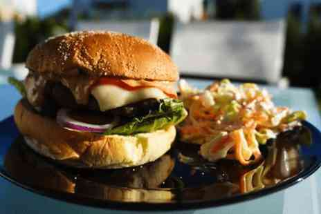 The Blue Steak Restaurant -  8oz steak burger, fries & sides or pizza, fries & sides for 2 - Save 67%