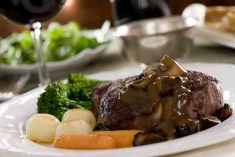 Danube Restaurant - 10oz Rump Steak Meal With Wine For Two - Save 49%
