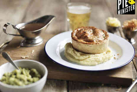 Pieminister - Award Winning Pie with Sides and a Pint of Beer or Cider  Each for Two - Save 54%