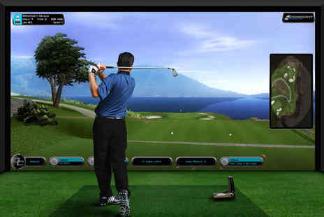 Ferndown Forest Golf Club - Two Hour Golf Simulator Experience for up to Four with Pint of Beer or Soft Drink Each - Save 42%