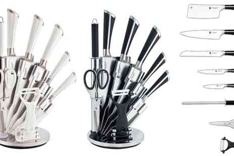 Brainify - Imperial Collection 8 Piece Knife Set with Stand & Peeler - Save 83%
