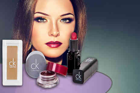 Look N Style - Three piece Calvin Klein cosmetics set including lipstick, eyeshadow and lipgloss - Save 83%