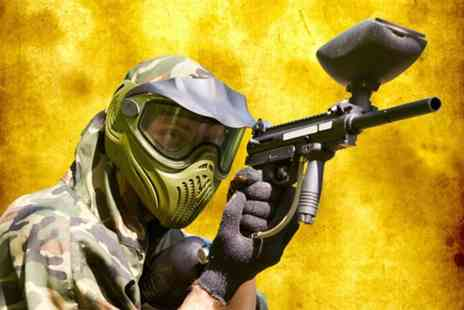Asylum Paintball - Half day indoor paintballing experience for up to 5 people including 100 paintballs each  - Save 0%