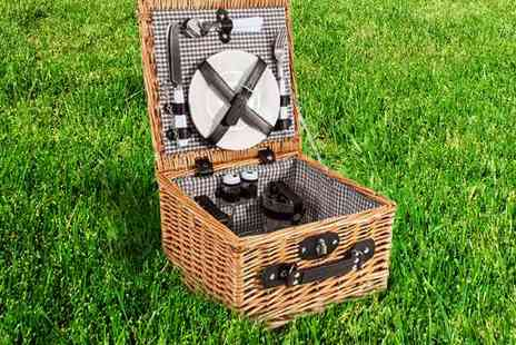 Picnic Hamper - Willow Picnic Basket - Save 62%