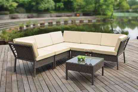 The Factory Shops  - Rattan Monroe Corner Set - Save 38%