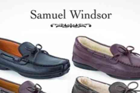 Samuel Windsor - One Pair of Hand Sewn Leather Slippers - Save 72%