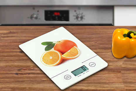 Designer Home and Garden - Tri Mode Ultra Slim Kitchen Scales - Save 50%