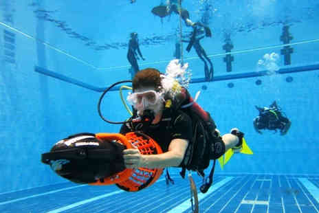 Divemaster Scuba - Two hour scuba diving lesson for 2 people including DPV underwater scooters  - Save 50%