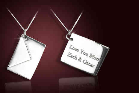 Bijou Amour - Sterling silver personalised love letter pendant - Save 67%