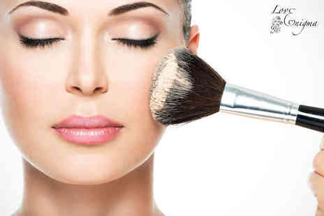 Love Enigma - Three Hour Intensive Make Up Masterclass with a Glass of Bubbly Each for One - Save 71%
