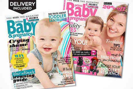 Buy subscriptions - Seven Issue Prima Baby & Pregnancy Subscription - Save 39%