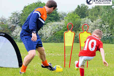 Evolution Football Coaching - Five Kids Football Coaching Sessions - Save 50%