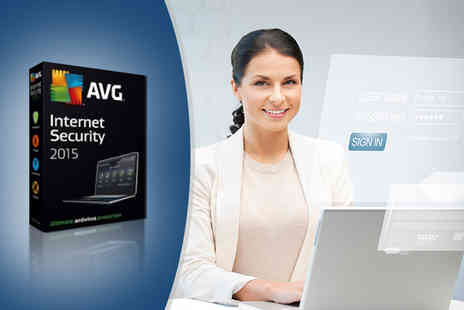 SRE Computing - One year AVG Internet Security 2015 package for up to 2 PCs - Save 63%