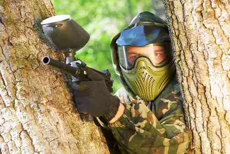 Bricketwood Paintball - Full Day Experience For Up to Ten People With 100 Balls Each - Save 90%