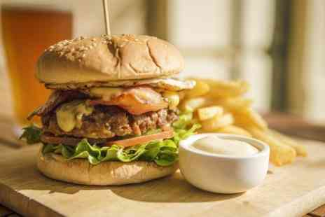 The Filling Station Smokehouse - Choice of Burger Meal With Drink For Two  - Save 52%