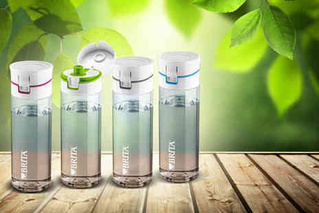 eGlobal Shoppers -  Brita Fill and Go with 4 cartridges and in a choice of 4 colours - Save 55%