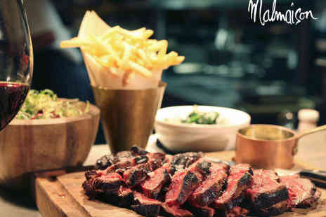 Malmaison - Chateaubriand with Fries and Bottle of Wine to Share for Two - Save 0%