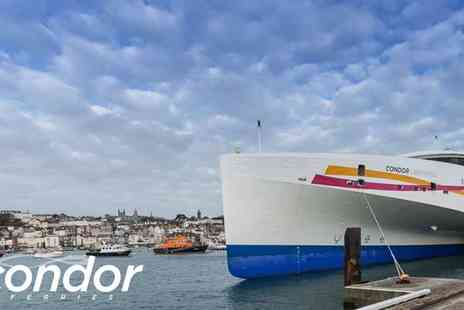 Condor Ferries - Ticket to Guernsey or Jersey Return Ferry Day Trip   - Save 50%