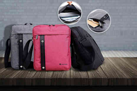 Tags Tech - Grey, pink or black Titan messenger bag ideal for your iPad, tablet or Kindle and more - Save 63%