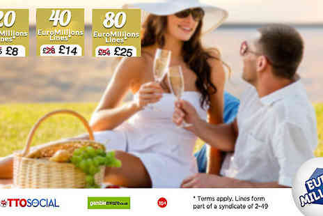 Lottosocial - Euromillion Lines on Lotto Social Syndicate - Save 0%