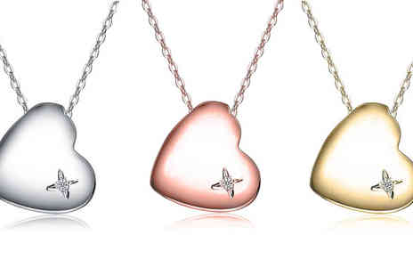 BuyBay BV - Choice of 18k Heart Shaped Necklaces - Save 79%
