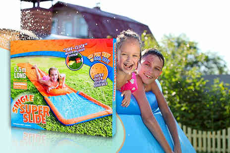 All Boxed Up -  inflatable aqua slide and boogie board  - Save 73%