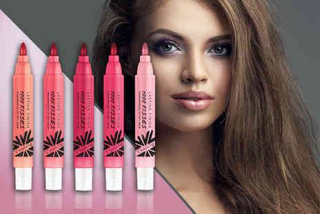 Look N Style -  Five piece set of Rimmel 1000 Kisses lip tints  - Save 83%