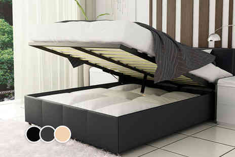 Fishoom - Double ottoman storage bed with a memory foam mattress and seven piece bedding set  - Save 0%