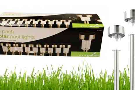 All Boxed Up - 10 Pack of Slim Solar Post Lights - Save 57%