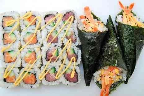 Blue Fin Sushi - Blue Fin Sushi Sharing Platter With a Side and Drink Each For Two  - Save 48%