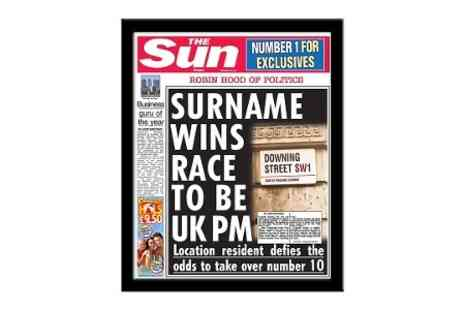 Personalised Newspaper Gifts - The Sun Personalised Prime Minister Front Page  - Save 50%