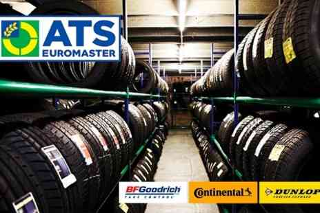 ATS Euromaster -  £50 Towards Continental, Dunlop or BF Goodrich Tyres - Save 50%