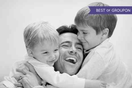 Revolve Studios - Fathers Day Family Photoshoot With Large Canvas and Prints - Save 96%