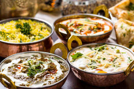 Ashoka  - Takeaway Curry Each and a Rice and Naan to Share for Two with a 187ml Bottle of Wine Each  - Save 51%
