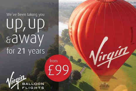 Virgin Balloon Flights - Virgin Hot Air Champagne Balloon Flight for One - Save 50%
