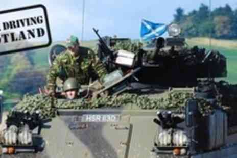 Tank Driving Scotland - Tank Ride Experience Plus Paintball For Two With Combat Kit and Camouflage - Save 68%